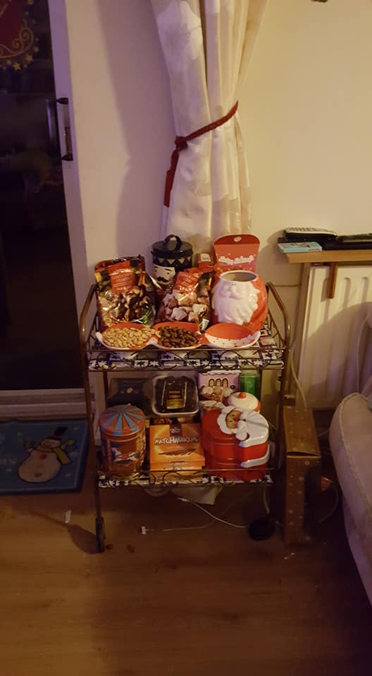 Christmas treat trolley