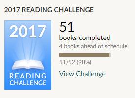 Goodreads reading challenge 2017 51 books read