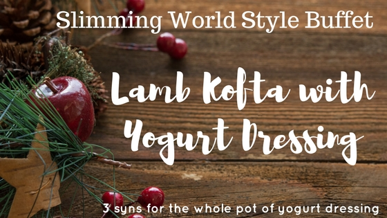 Lamb Koftas with mint yogurt dip Slimming World buffet recipe