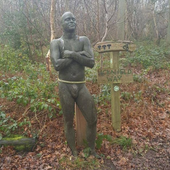 #1day12#pics Wooden man at Hill Holt Wood