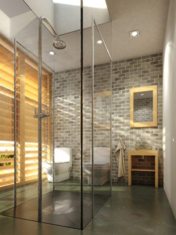 bathroom tile feature wall