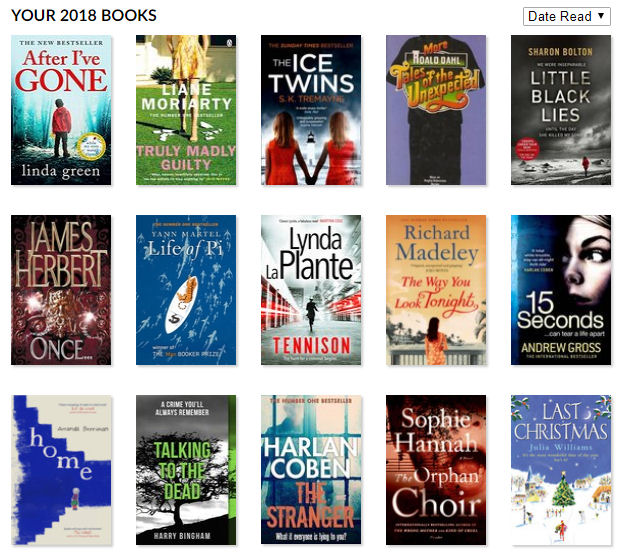 Goodreads 2018 reading challenge
