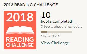 goodreads reading challenge 2018 10 books read