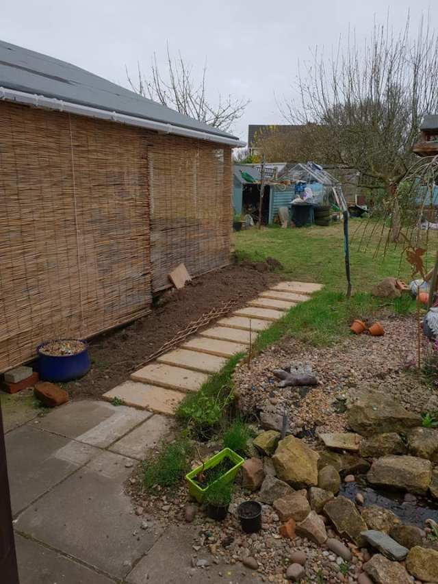 new border ready for planting