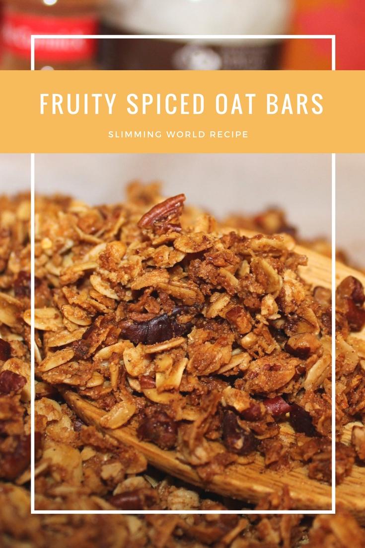 fruity spiced oat bars