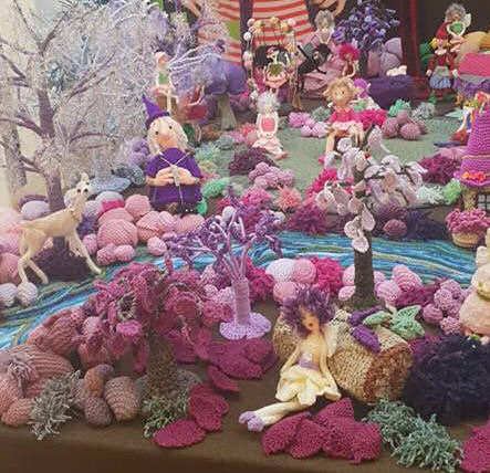 enchanted wood - knitted and crocheted faires, witches, trees, etc