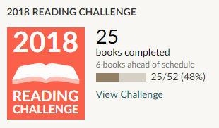 Goodreads 2018 reading challenge 25 books read