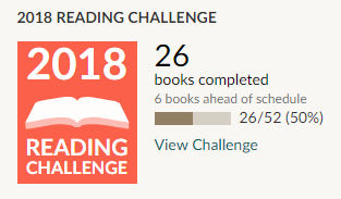 Goodreads 2018 reading challenge 26 books read