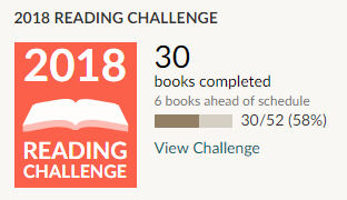 Goodreads Reading Challenge 2018 - 30 books read