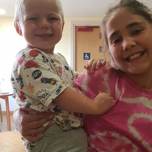 Ella and Keiron at the party July 2018