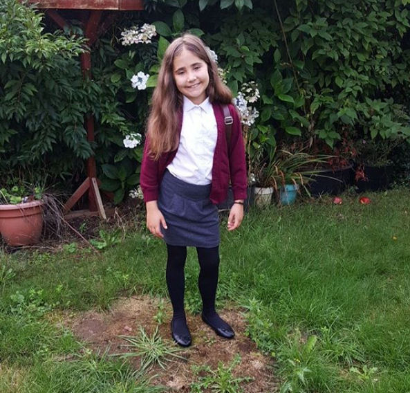 Ella's first day back to school photos - 2016