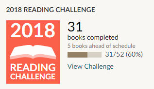 Goodreads 2018 reading challenge 31 books read
