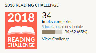 Goodreads 2018 reading challenge 34 books read