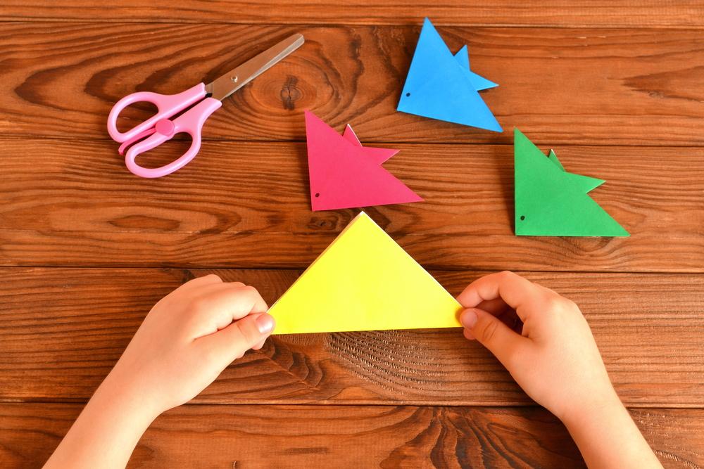 colourful origami fish
