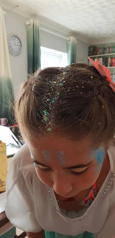 glaitter hair