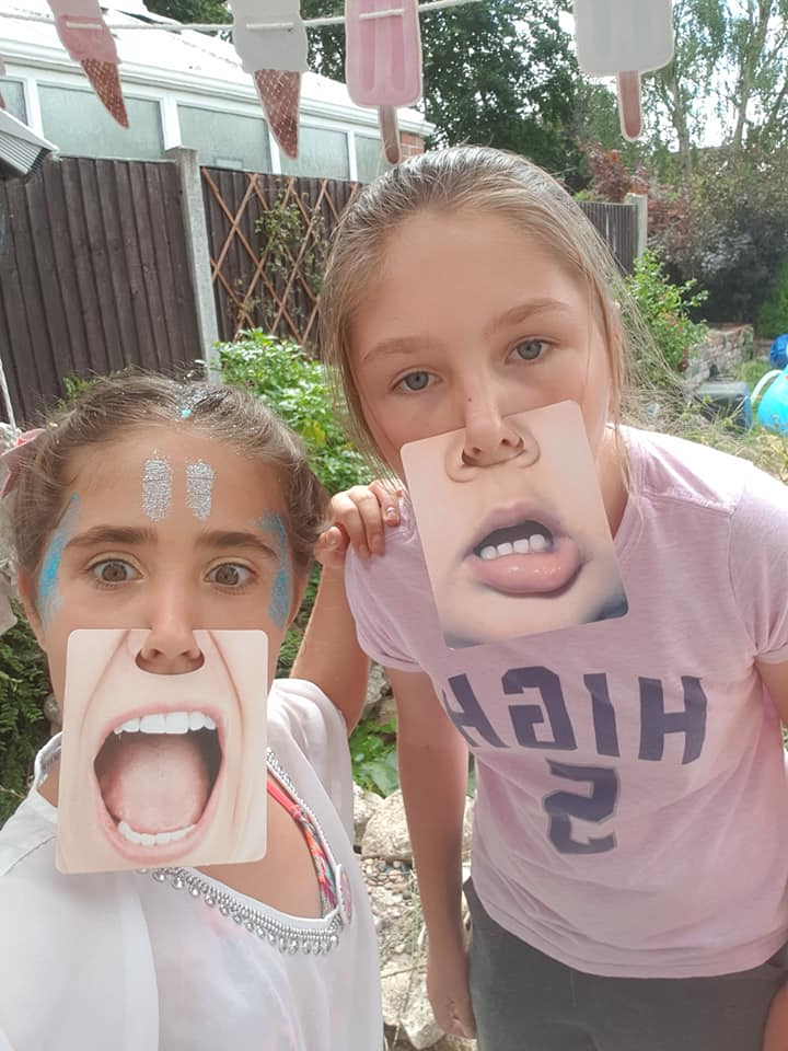 Ella's 11th birthday - Ella and Ruby selfies