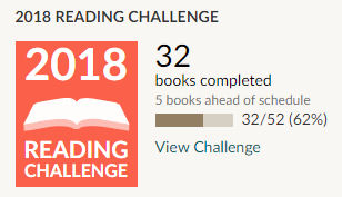 Goodreads 2018 reading challenge 32 books read