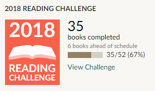 Goodreads 2018 reading challenge 35 books read