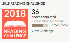 Goodreads 2018 reading challenge 36 books read