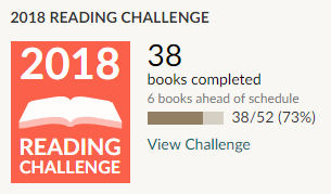 Goodreads 2018 reading challenge 38 books read