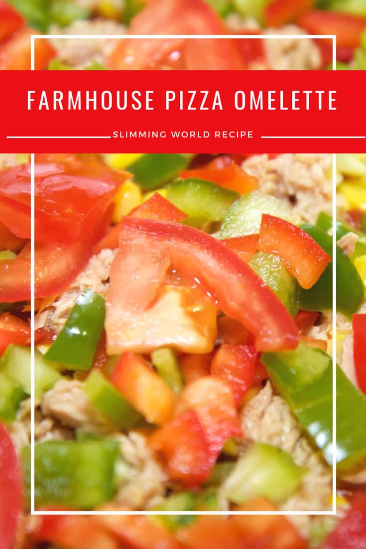 farmhouse pizza omelette slimming world recipe