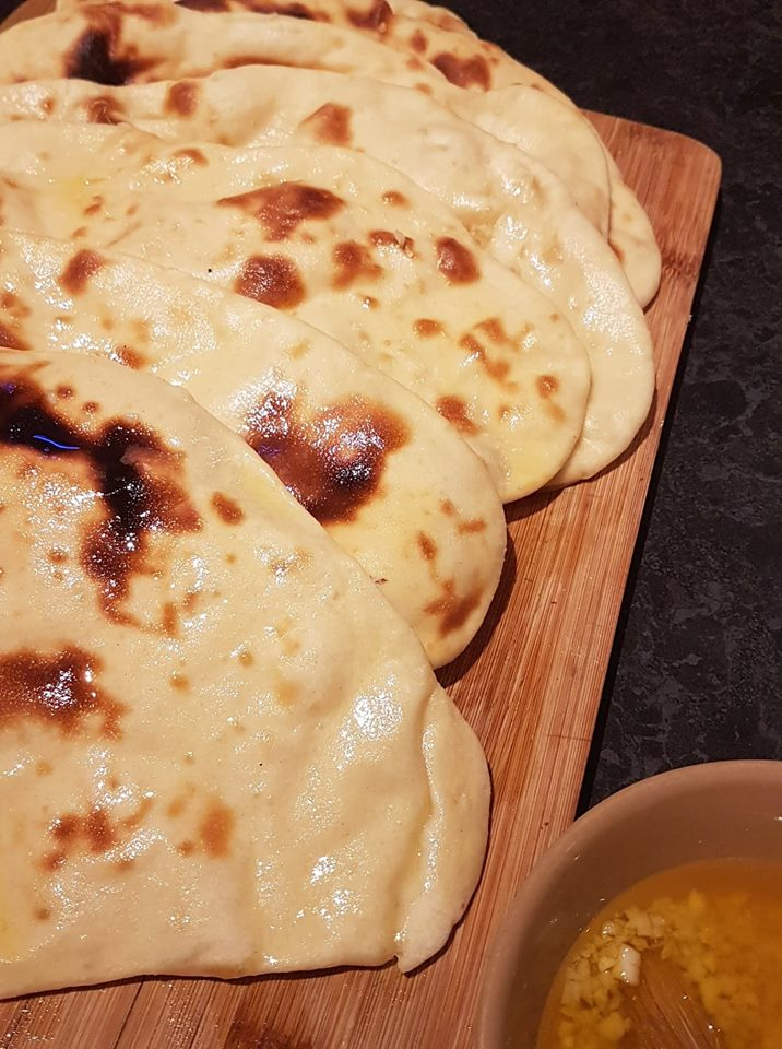 Naan on a breadboard