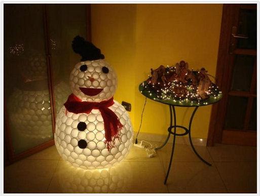 plstic cup snowman