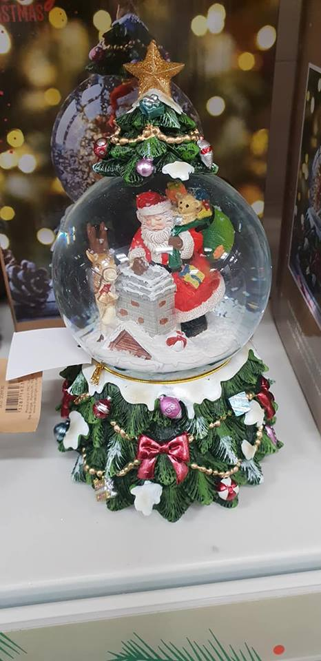 October 1 day 12 pics number 3 - snowglobe with Santa inside