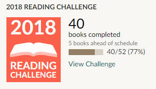 Goodreads 2018 reading challenge 40 books read