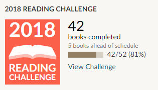 Goodreads 2018 reading challenge - 42 books read