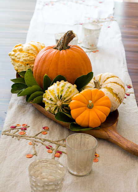 Easy pumpkin centrepiece - Autumn decor