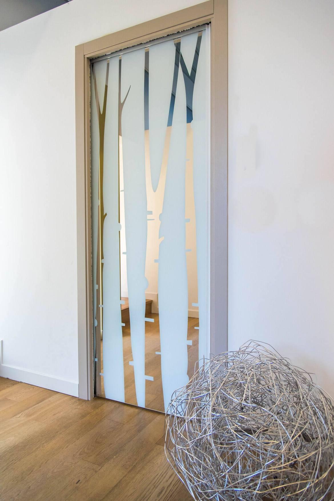 interior frosted glass door