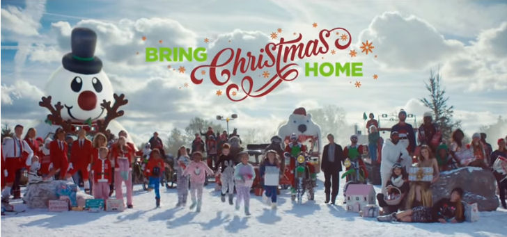 Bring Christmas Home asda Christmas advert 2018