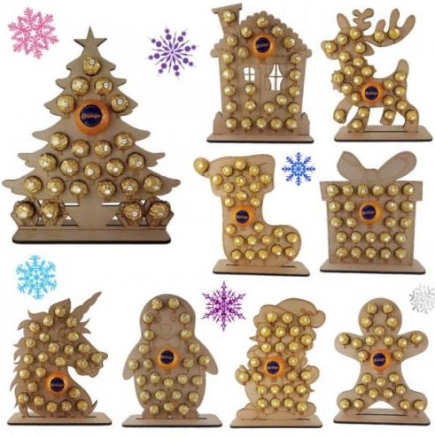 Wooden Terry's Chocolate Orange and Ferrero Rocher advent calendar