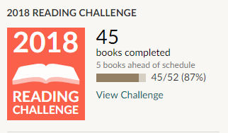 Goodreads 2018 reading challenge 45 books read