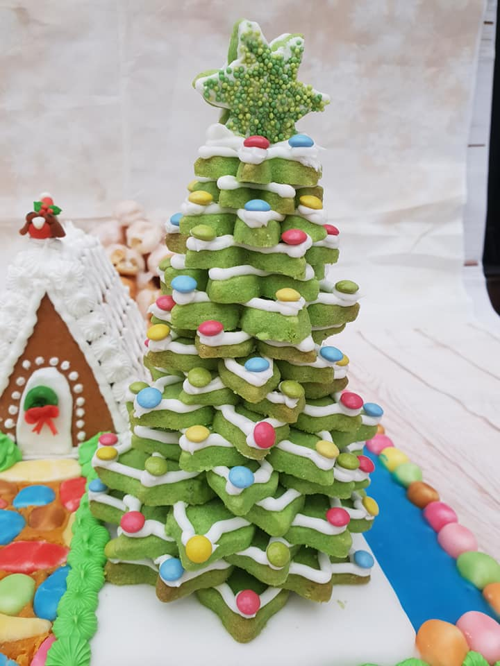 lavender shortbread 3d Christmas tree