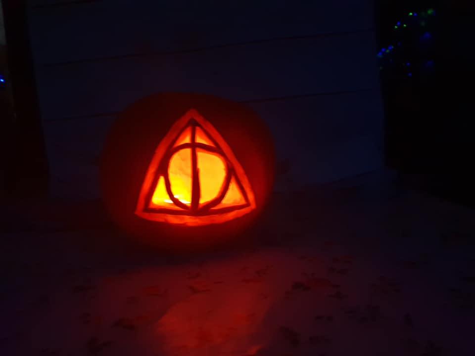 KayCee's Deathly Hallows pumpkin