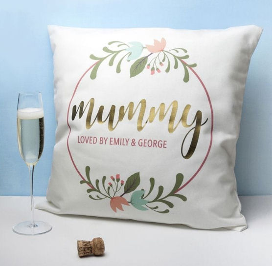 Personalised Mummy cushion from Find Me A Gift