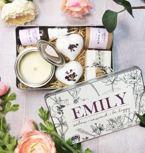 personalised spa pamper gift set