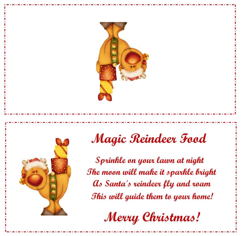 magic reindeer food bag topper