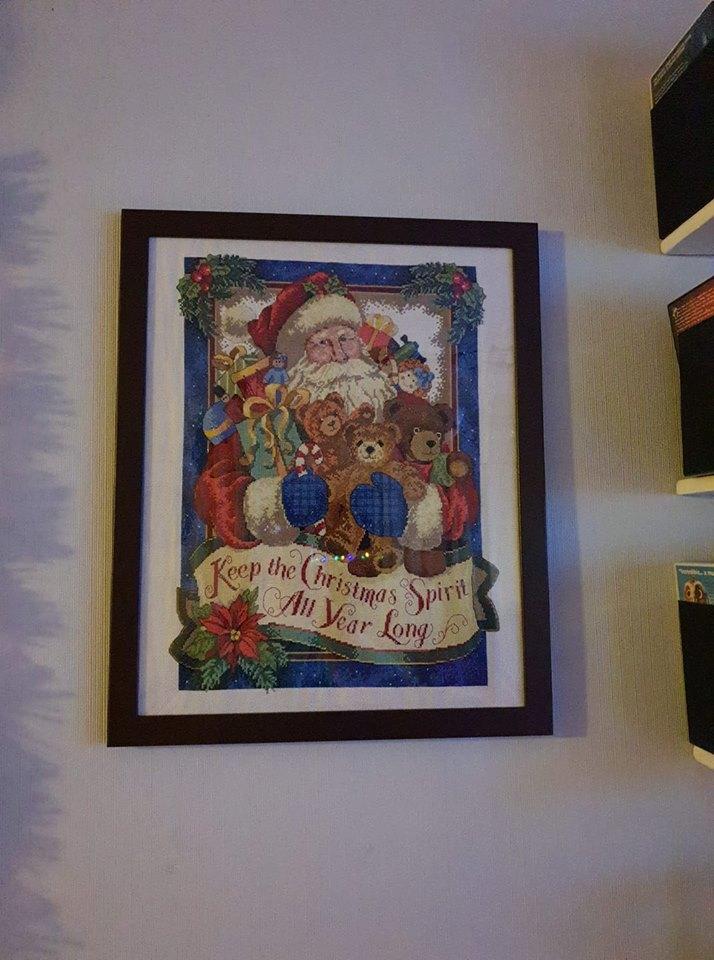 Santa Christmas cross stitch