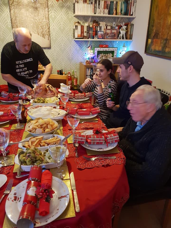 Christmas day photos 2018 - Ant, KayCee, Jerome and Granddad