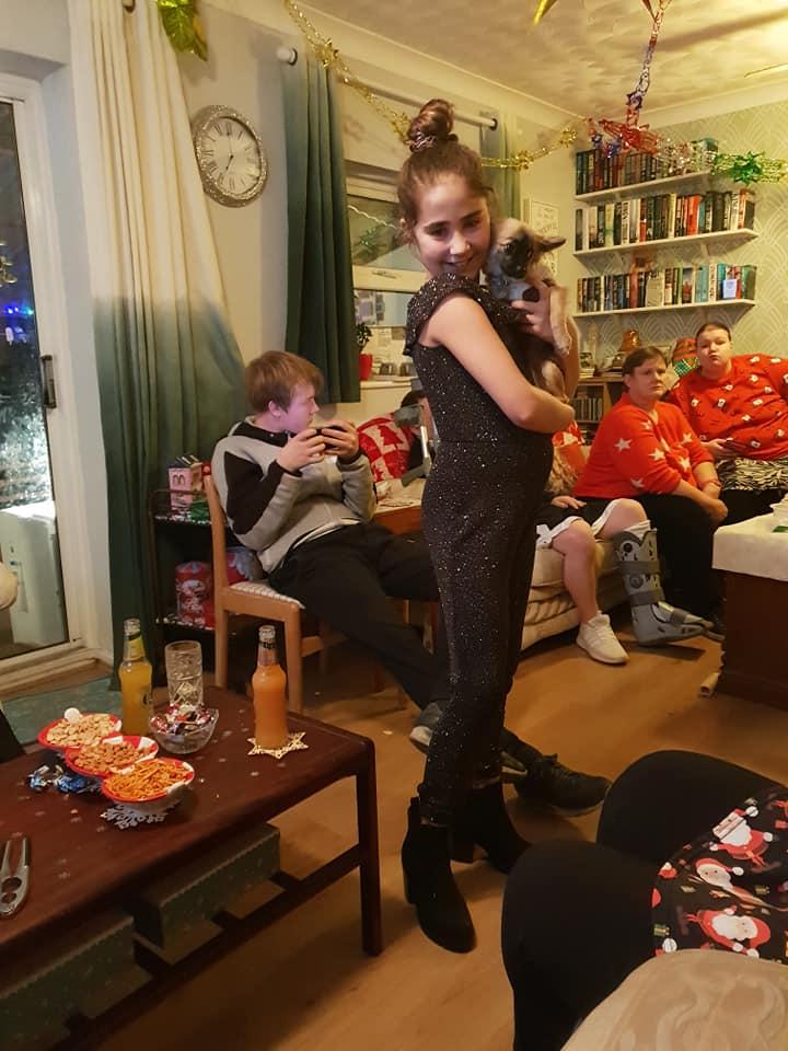 Christmas Eve photos 2018 - Ella and Dobby