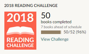 Goodreads 2018 reading challenge 50 books read