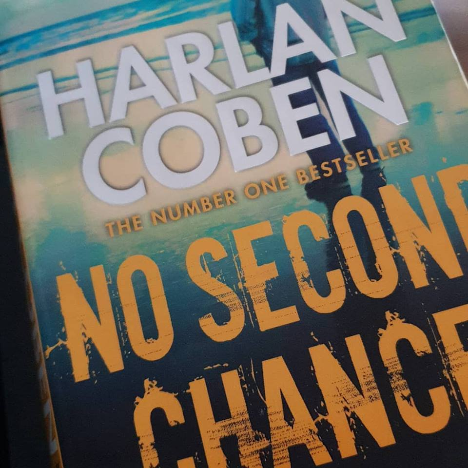 February 2019 1 day 12 pics 01 - reading Harlan Coben No Second Chance