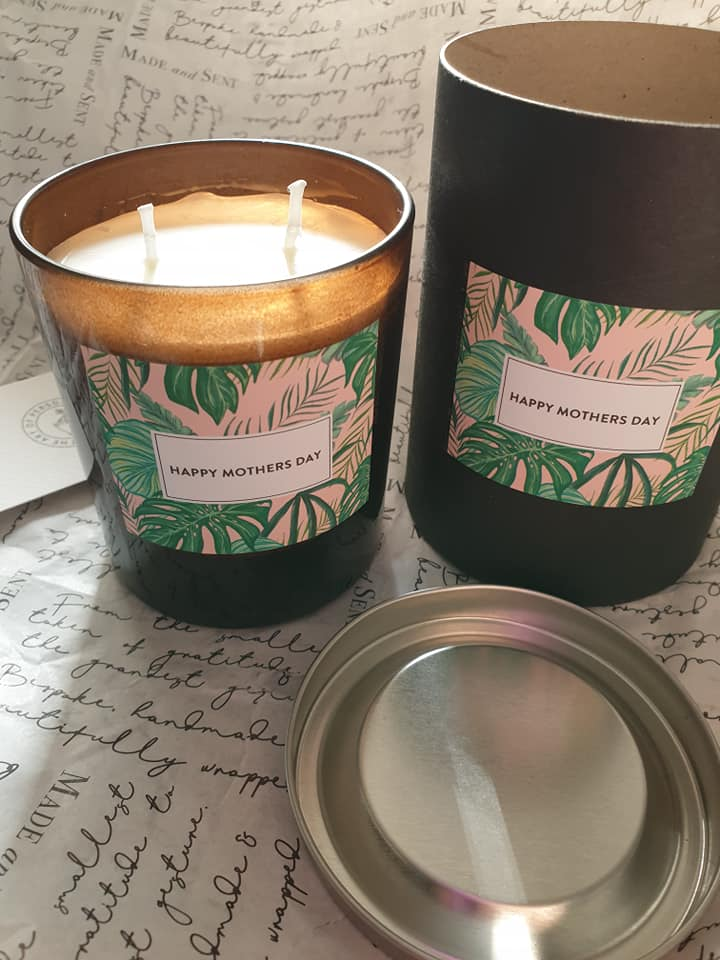 Made and Sent fig and pomegranate Mother's Day candle