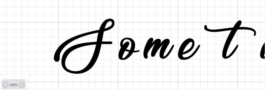 Design Space position letters