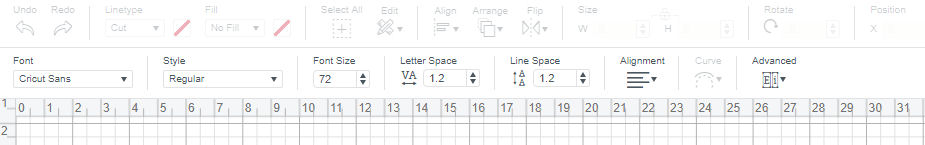 Design Space toolbar