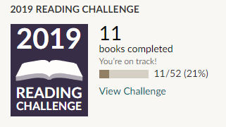 Goodreads 2019 reading challenge 11 books read