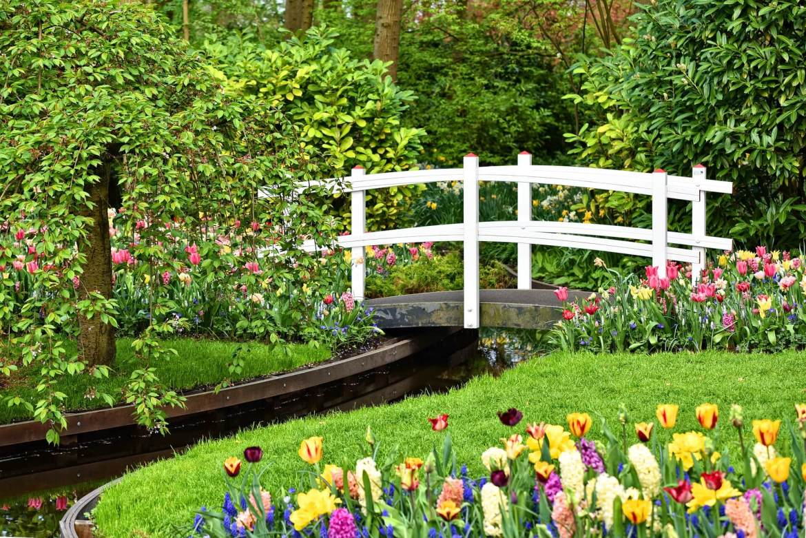 Garden Design Process - wooden bridge